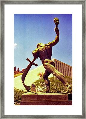 Let Us Beat Our Swords Into Plowshears Framed Print