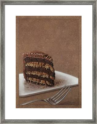 Let Us Eat Cake Framed Print by James W Johnson