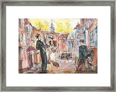 Let Us Get Acquainted Framed Print by Oleg Poberezhnyi