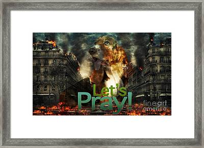 Framed Print featuring the digital art Let Us Pray by Kathy Tarochione