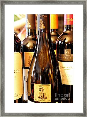 Let Us Wine Framed Print by Mesa Teresita