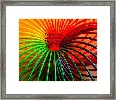 Let Wisdom Begin Framed Print