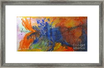 Let Your Music Take Wing Framed Print