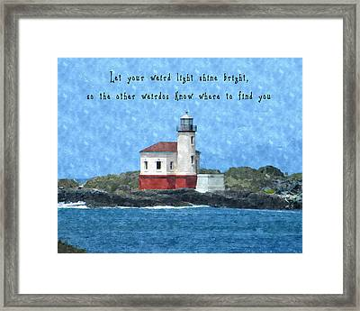 Let Your Weird Light Shine Bright Framed Print