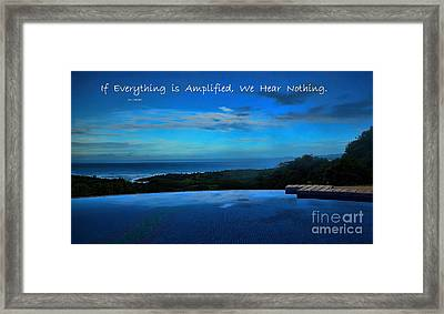 Let Yourself Hear The Magic Framed Print by Pamela Blizzard