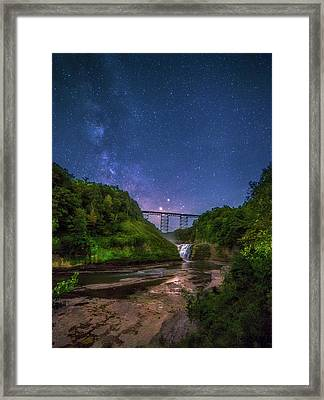 Letchworth At Night Framed Print by Mark Papke