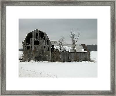 Letchworth Barn 0077b Framed Print