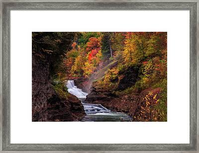 Letchworth Lower Falls 2 Framed Print by Mark Papke