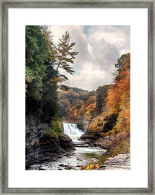 Letchworth Lower Falls 2 Framed Print by Peter Chilelli