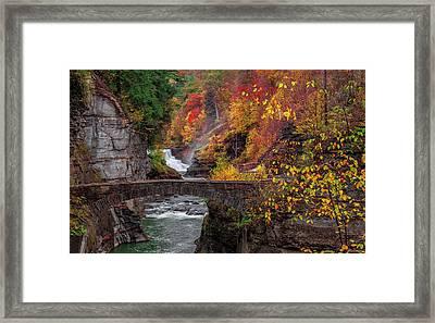Letchworth Lower Falls Framed Print