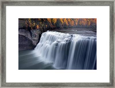 Letchworth Middle Falls II Framed Print by Timothy McIntyre