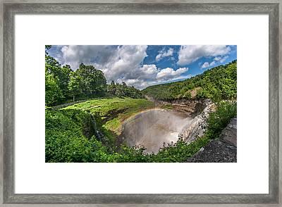 Letchworth State Park Gorge Framed Print