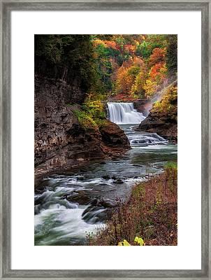 Letchworth State Park Lower Falls Framed Print