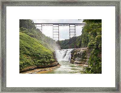 Letchworth Upper Falls Framed Print