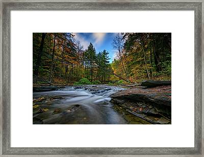 Letchworth's Wolf Creek  Framed Print by Rick Berk