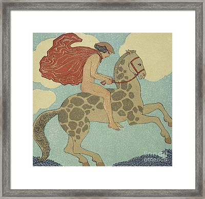L'etranger Framed Print by Georges Barbier