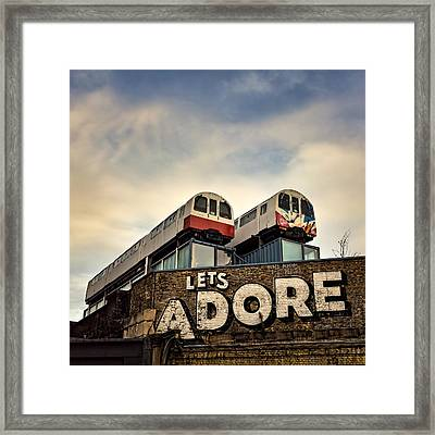 Lets Adore Shoreditch Framed Print