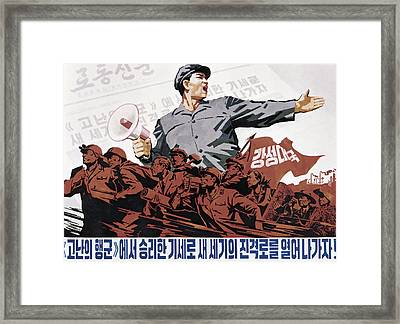 Let's Charge Forward Framed Print by Daniel Hagerman