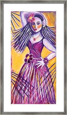 Framed Print featuring the painting Let's Dance by Anya Heller