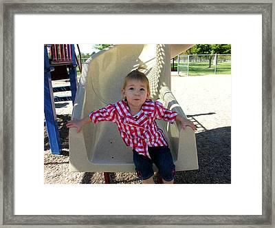 Let's Do That Again Framed Print by Adam Vance