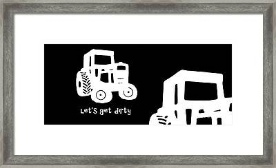 Let's Get Dirty Mug Framed Print by Edward Fielding