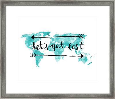 Lets Get Lost 16x20 Framed Print by Michelle Eshleman