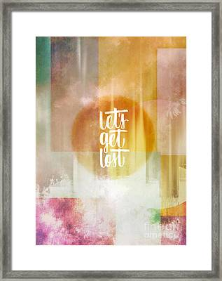 Let's Get Lost Framed Print by Jacky Gerritsen