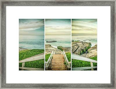 Let's Go Down To Windansea Framed Print by Joseph S Giacalone