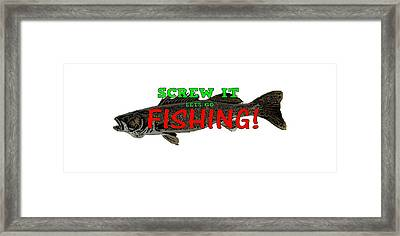 Lets Go Fishing Framed Print by Curtis Griffith
