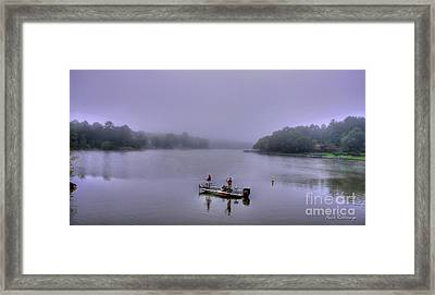 Lets Go Fishing Lake Oconee Fishing Art Framed Print