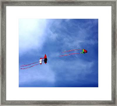 Let's Go Fly 2 Kites Framed Print