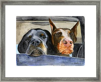 Let's Go For A Ride Framed Print by Sheryl Heatherly Hawkins
