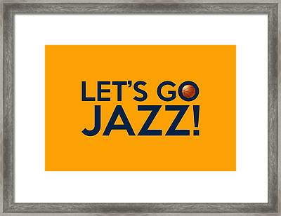 Let's Go Jazz Framed Print