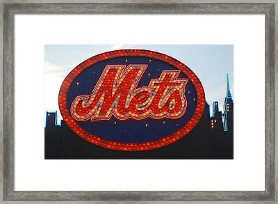 Lets Go Mets Framed Print by Richard Bryce and Family