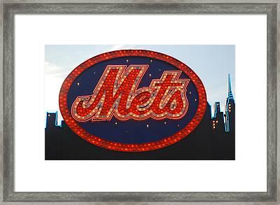 Lets Go Mets Framed Print