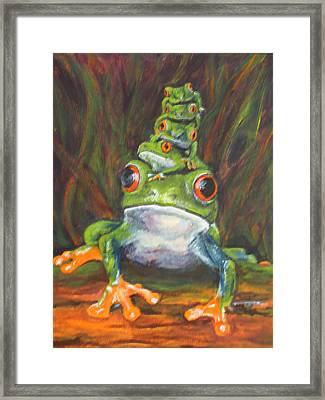 Framed Print featuring the painting Let's Go Mom by Pauline  Kretler