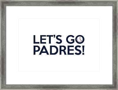 Let's Go Padres Framed Print by Florian Rodarte