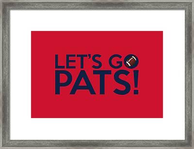 Let's Go Pats Framed Print by Florian Rodarte