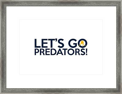 Let's Go Predators Framed Print by Florian Rodarte