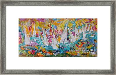 Lets Go Sailing Framed Print by Lyn Olsen
