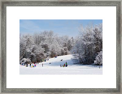 Lets Go Sledding Framed Print