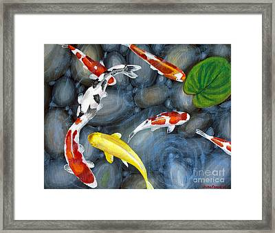Let's Go Swimming Framed Print