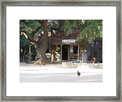 Let's Go To Luckenbach Texas Framed Print