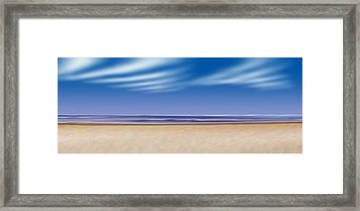 Framed Print featuring the digital art Let's Go To The Beach by Saad Hasnain