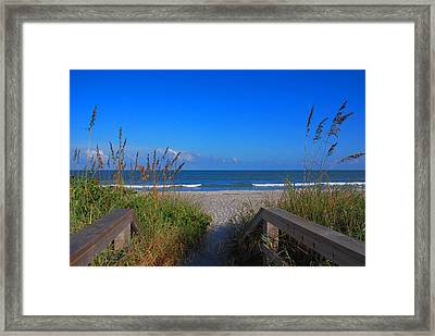 Lets Go To The Beach Framed Print by Susanne Van Hulst