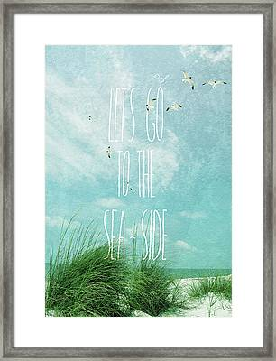 Framed Print featuring the photograph Let's Go To The Sea-side by Jan Amiss Photography
