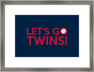 Let's Go Twins Framed Print by Florian Rodarte
