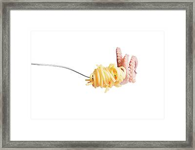 Let's Have A Pasta With Seafood Framed Print by Vadim Goodwill
