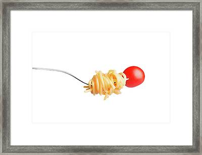 Let's Have A Pasta With Tomato Framed Print by Vadim Goodwill