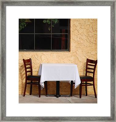 Lets Have Lunch Together Framed Print